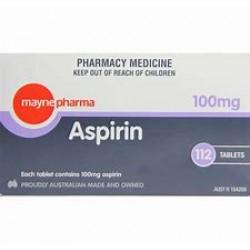 ASPIRIN TAB 100MG 112