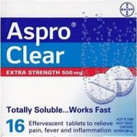 ASPRO CLEAR TAB X/S 500MG 16