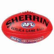 AUSSIE RULES F/BALL RED SIZE 3