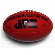 AUSSIE RULES F/BALL RED SIZE 5