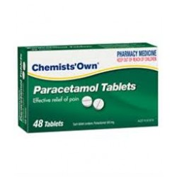 CHEM/OWN PARACETAMOL TAB 48