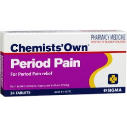CHEM/OWN PERIOD PAIN TAB 24