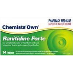 CHEM/OWN RANITIDINE FORTE 14 TABLETS