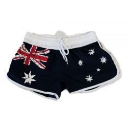 AUSTRALIA WMNS FLAG SHORTS XL