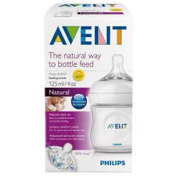 AVENT BOTTLE NAT FEED 125