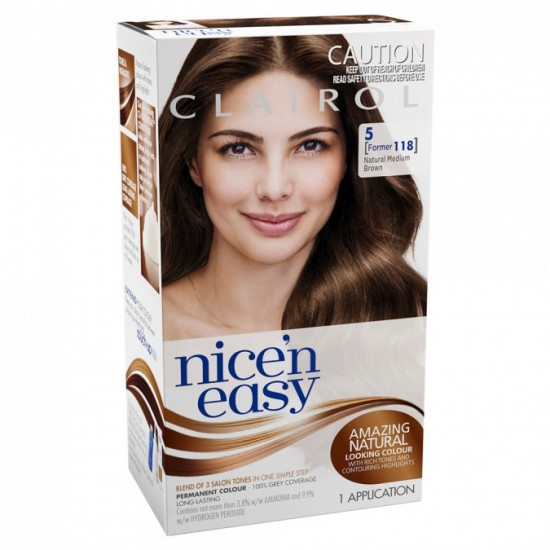 CLAIROL N/EASY NAT 118 MED BROWN
