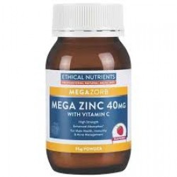 Ethical Nutrients Mega Zinc Powder 40mg (Raspberry) 95g