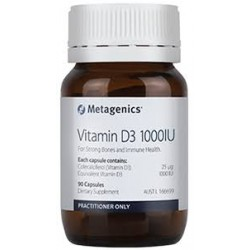 metagenics Vitamin D3 1000IU 90 Capsules