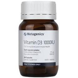 metagenics Vitamin D3 1000IU 270 Capsules