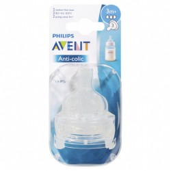 Avent Anti-colic Medium Flow Teats 2 Pack