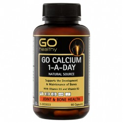 GO Healthy GO Calcium 1-A-Day Natural Source Capsules 60 Pack