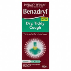 Benadryl Dry, Tickly Cough Liquid Berry Flavour 100mL