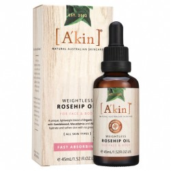 A'kin Weightless Rosehip Oil For Face and Body 45ml