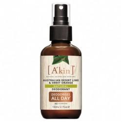 A'kin Australian Desert Lime & Sweet Orange Natural Spray Deodorant 150mL
