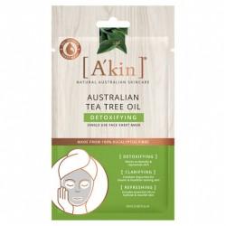 A'kin Australian Tea Tree Oil Detoxifying Face Sheet Mask 1 pack