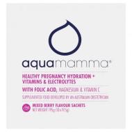 Aquamamma Healthy Pregnancy Hydration + Vitamins & Electrolytes Mixed Berry Sachets 10 x 19.5g