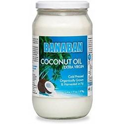 BANABAN ORGANIC COCONUT OIL EX/VIR 350ML